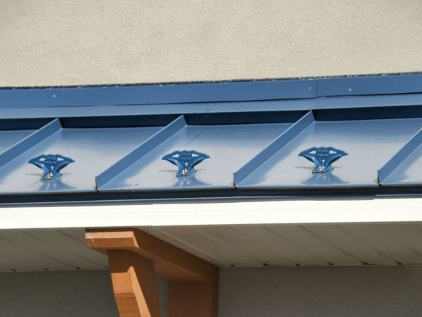 jalco snowguards blue metal roof snowguards - closeup - over main entry door - 84547815